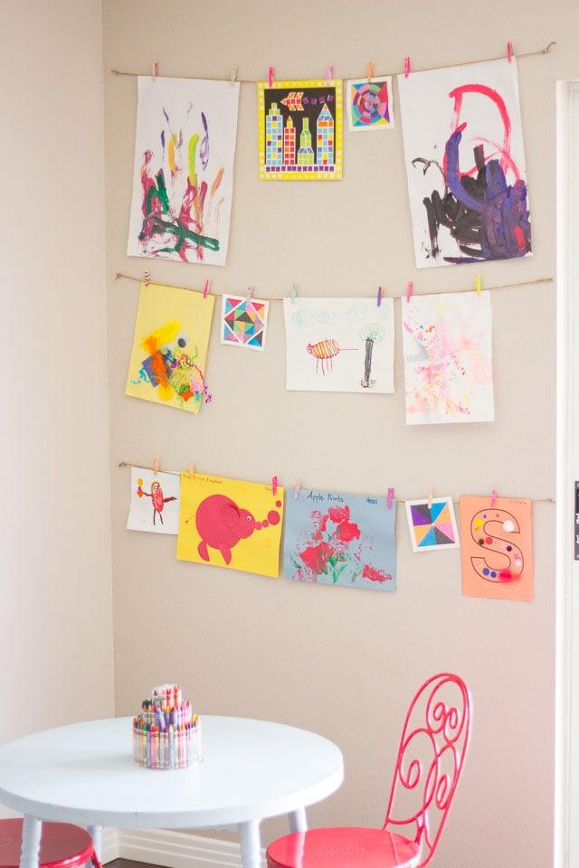 creative ways to display kids art ForCreative Ways To Display Artwork