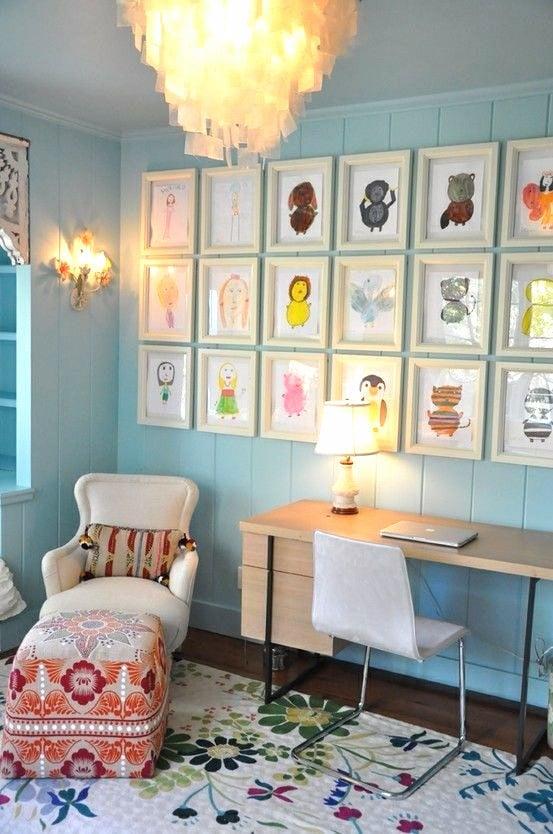Playroom Art Display Wall