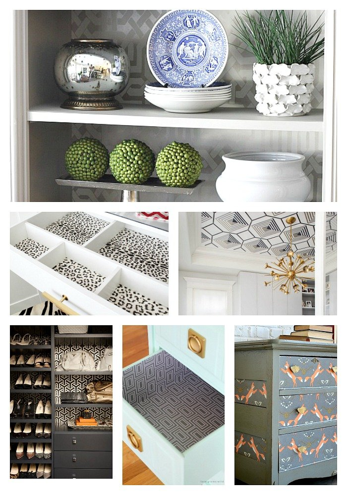 Creative ways to use wallpaper and project ideas.