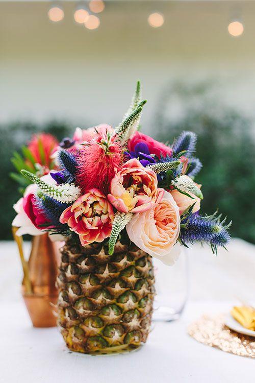 Use a pineapple to create a summer outdoor centerpiece. Lauren Conrad.