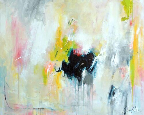 Abstract painted by Amira Rahim. Artist Spotlight.
