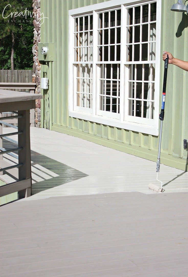 Behr DeckOver is one of the best deck paints on the market.