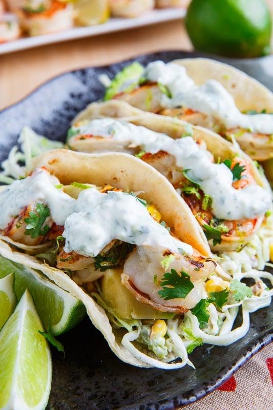Cilantro Lime Shrimp Tacos