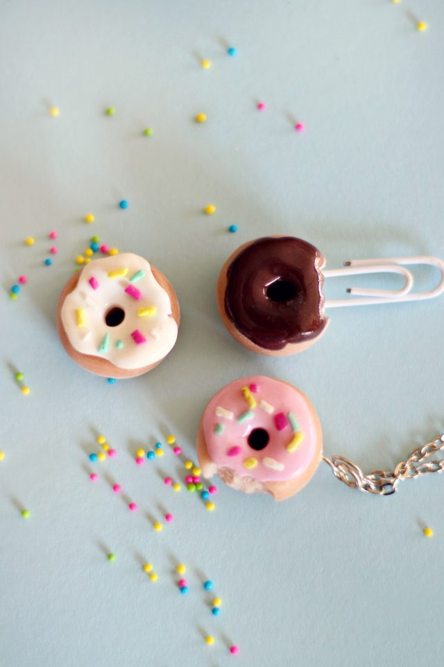 Clay Doughnut Charms