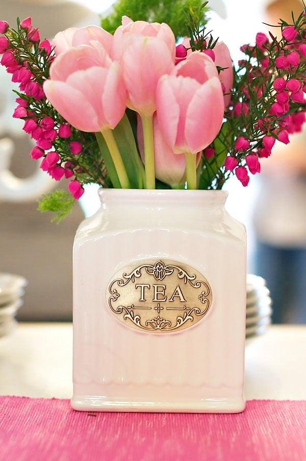 Tea Canister Vase