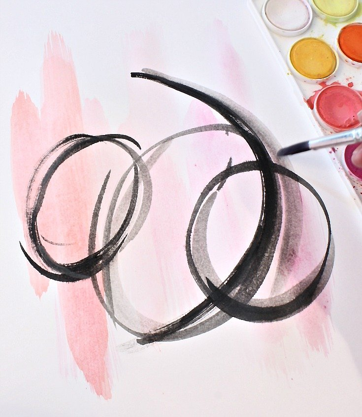 Diy abstract watercolor art for framing for Diy watercolor abstract art