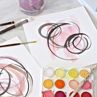 DIY Abstract Watercolor Art for Framing