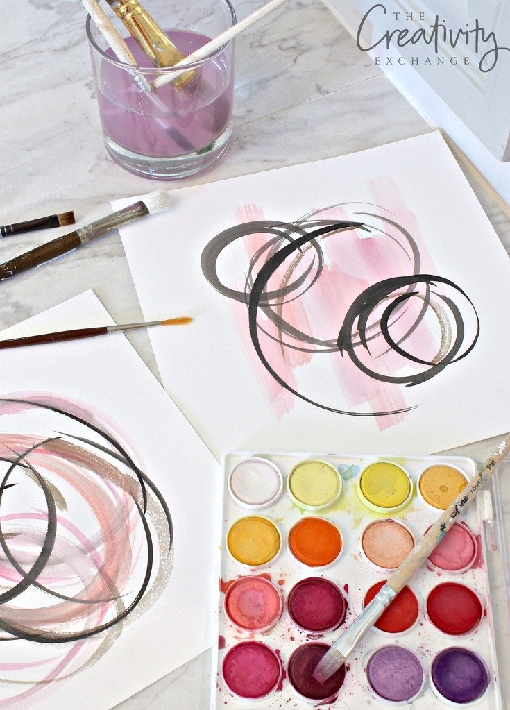 Diy abstract watercolor art for framing for Abstract watercolor painting tutorial