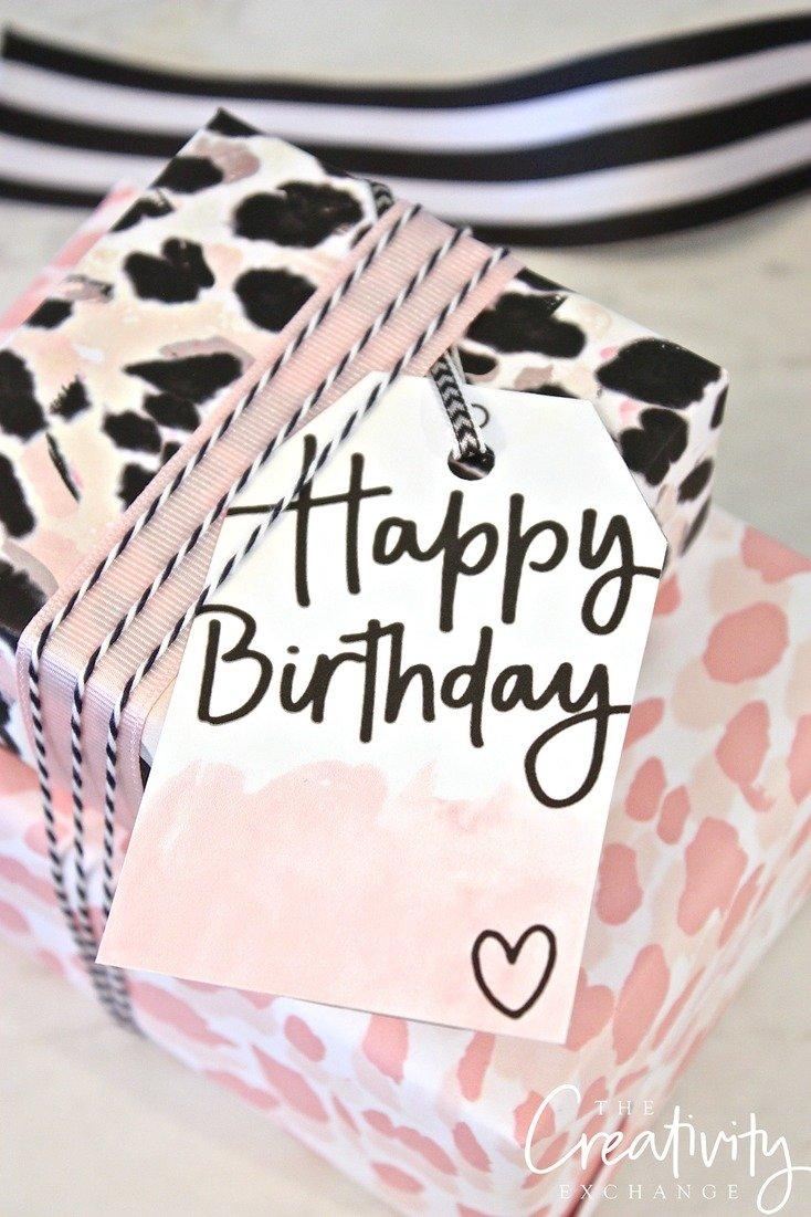 graphic regarding Printable Birthday Wrapping Paper referred to as Absolutely free Printable Reward Tags and Wrap Paper