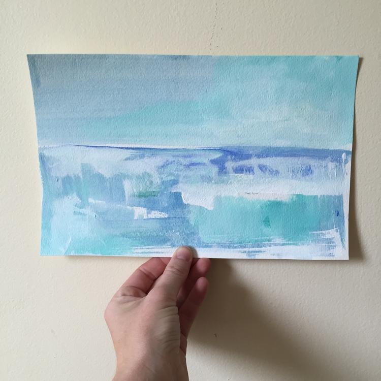 Caribbean Sea painted by Megan Elizabeth