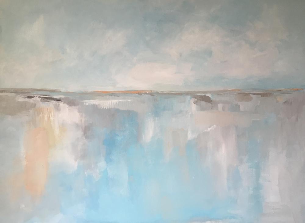 Coastal painting by Megan Elizabeth. Art by Megan