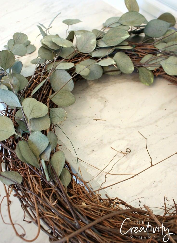 DIY Eucalyptus Door Wreath.