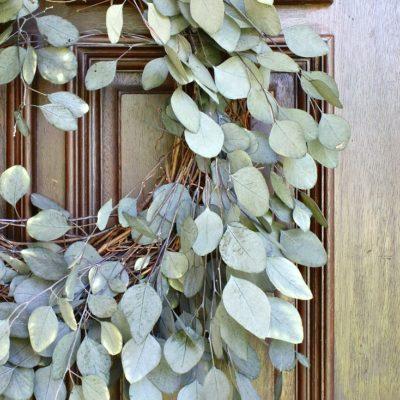 Easy Eucalyptus Door Wreath