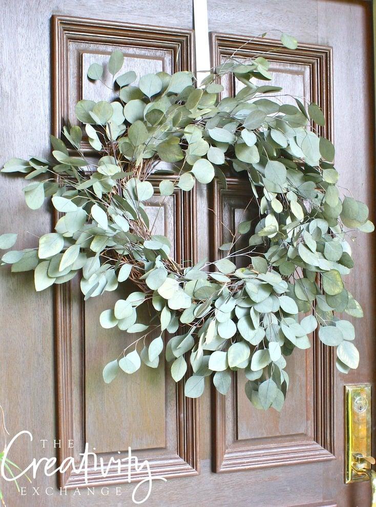 Easy DIY Eucalyptus Wreath. The Creativity Exchange