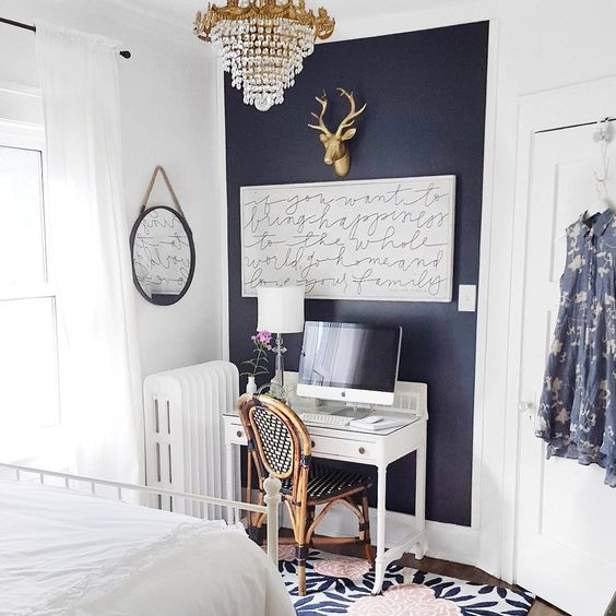 Navy Wall Color Is Hale From Benjamin Moore