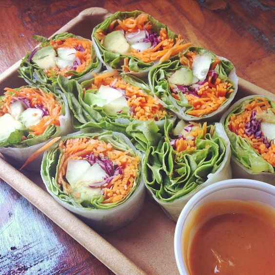 Fresh Spring Rolls with Light Peanut Sauce
