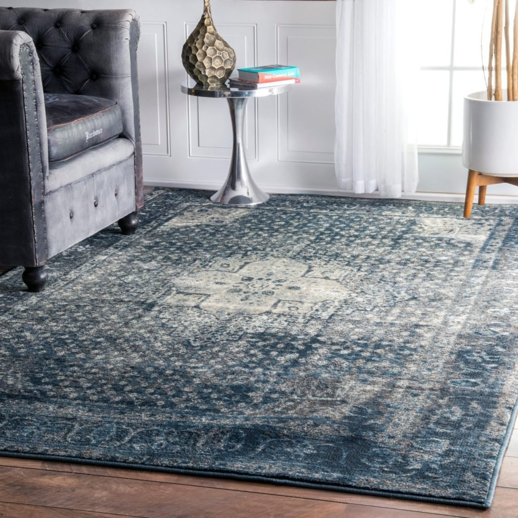 Navy overdyed rug from Amazon