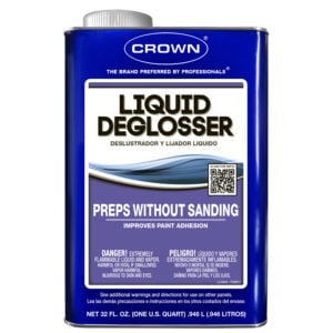 Use liquid deglosser to prep furniture for painting and you won't have to sand.