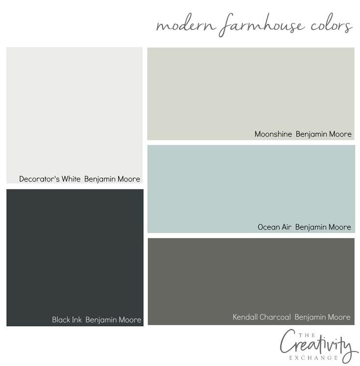 Moody monday chic modern farmhouse style - Farmhouse interior paint colors ...
