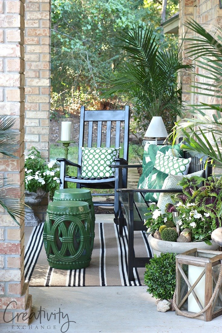 Front Porch Refresh And Tips For Fluffing. The Creativity Exchange Part 84