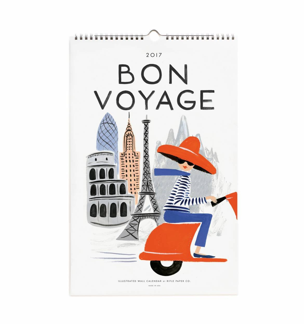 2017 Rifle Paper Co. Bon Voyage Calendar that is perfect for framing and creating a gallery wall.
