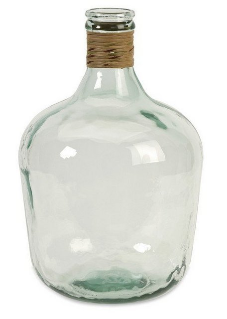 Clear glass large jug for decorating and layering bookshelves.