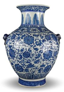 Blue and white vase. Available on Amazon.