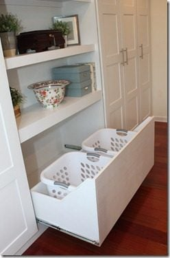 Built-In Laundry Baskets