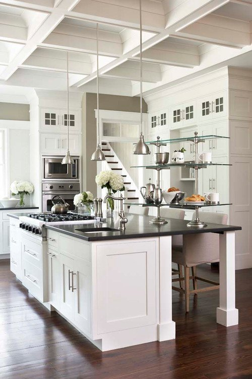 Cabinetry Color is Sherwin Williams Pure White in Satin. Design by Linda McDougald