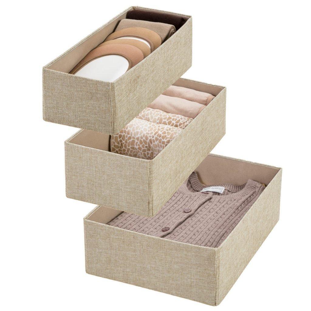 Closet storage bins from Amazon
