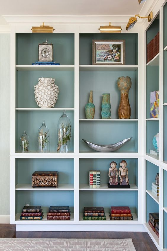 Painted Bookshelf Interior