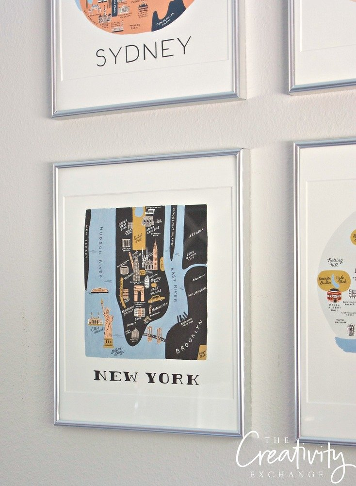 Rifle Paper Company Calendar Framed into Gallery Wall.