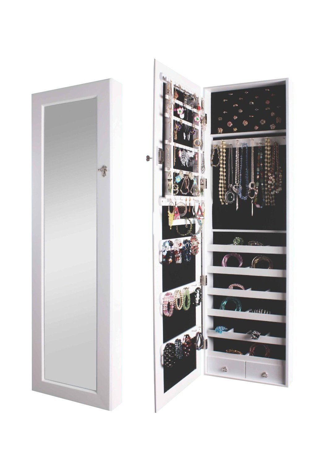 Wall jewelry cabinet from Amazon.