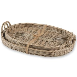 Wicker trays available on Amazon
