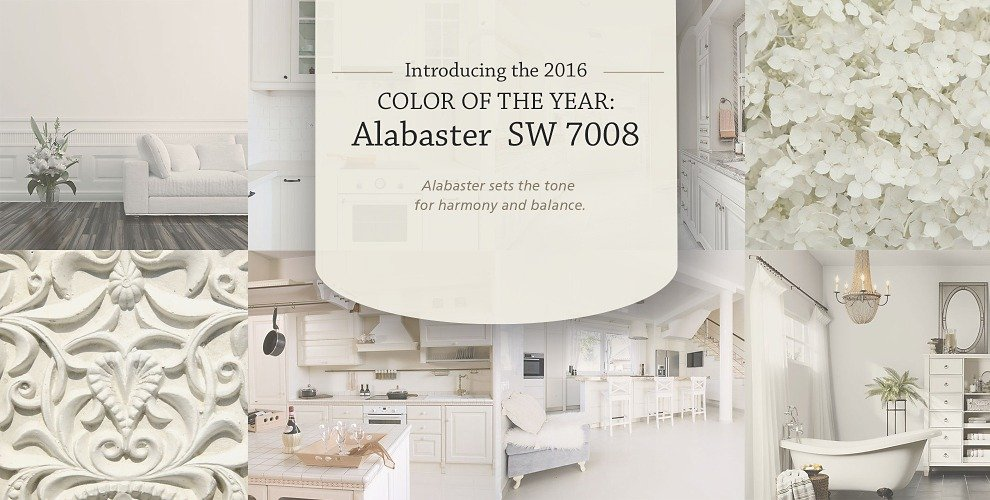 2016 Sherwin Williams Color of the Year. Alabaster.