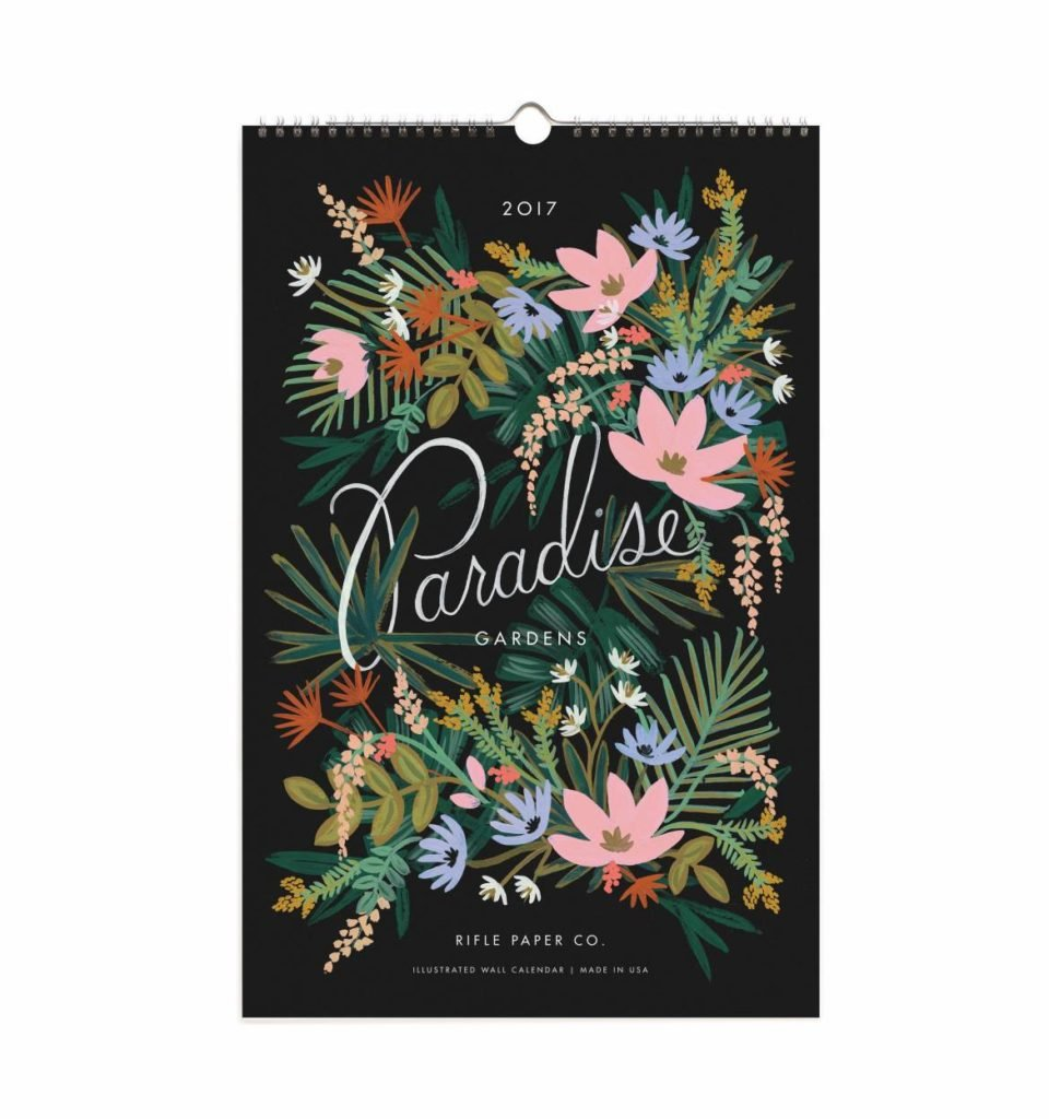 Paradise 2017 Rifle Paper Co. Calendar. Perfect for framing
