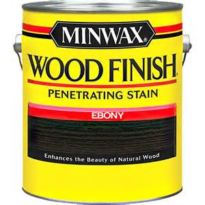Minwax Wood Finish Penetrating Stain Ebony. As black as you can get in a stain.
