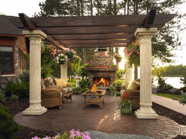 Columns and Beams Pergola