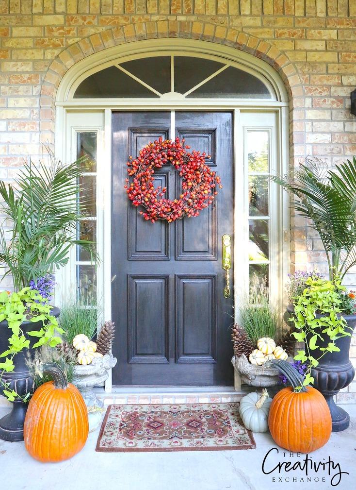 Fall Front Door Makeover. The Creativity Exchange