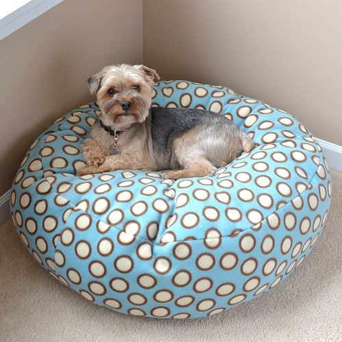 Fleece Dog Bed Pouf