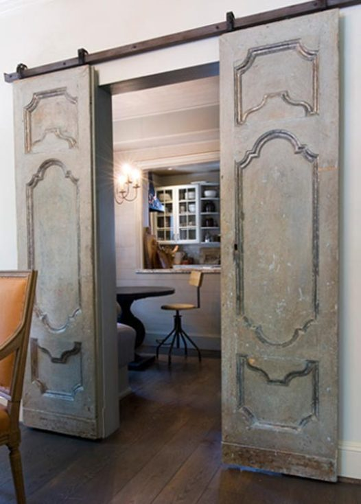 Modern and rustic interior sliding barn door designs for Barn door design ideas