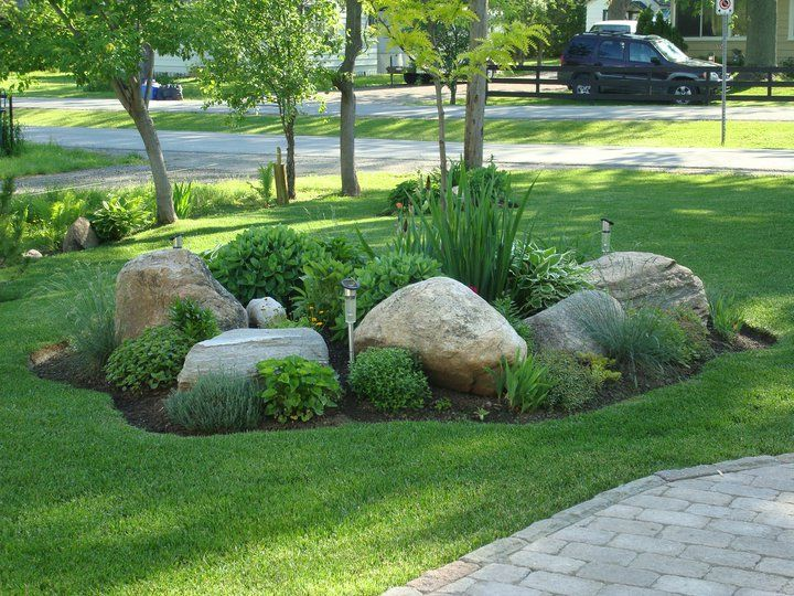 Easy ideas for landscaping with rocks - Landscaping with large rocks ...