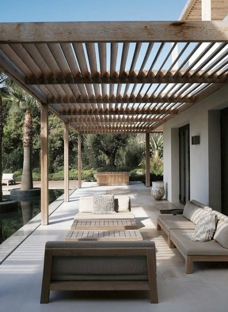 creative pergola designs and diy options. Black Bedroom Furniture Sets. Home Design Ideas