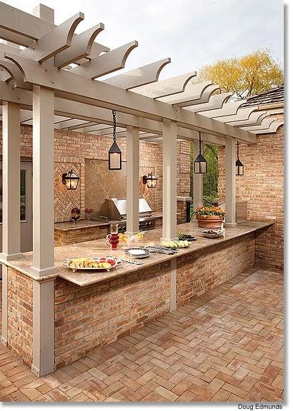 Outdoor Kitchen Bar Pergola