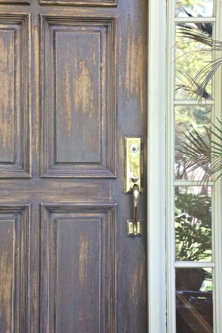 Fall front door makeover for Solid hardwood front doors