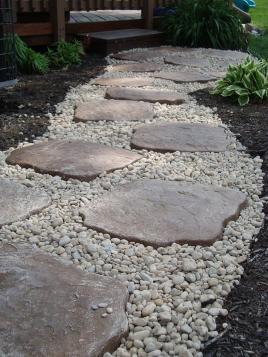 River Rock Walkway