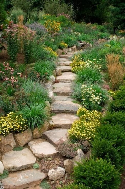 Rock Stepped Walkway