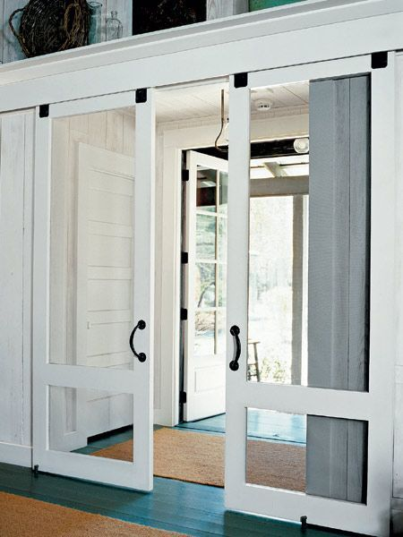 Modern and rustic interior sliding barn door designs - Exterior doors that open to the outside ...