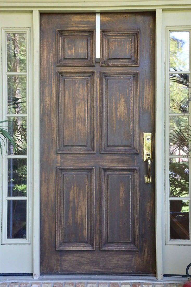 How To Refinish Solid Wood Front Door.