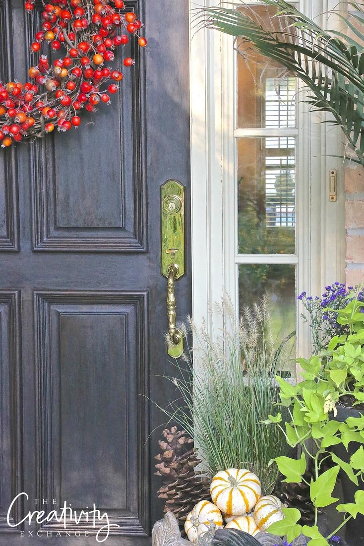 Tips for restoring solid wood door. Kwikset Amherst door hardware.